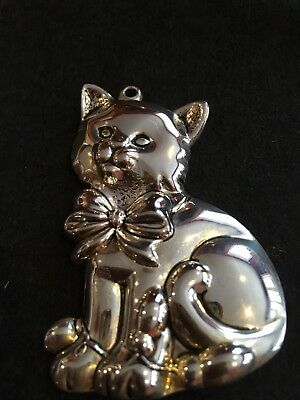 Gorham Sterling Cat- Kitten Holiday- Chistmas Ornament