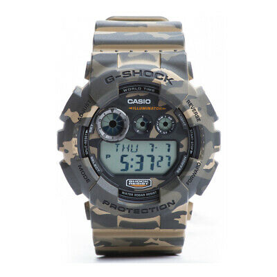 Casio GD120CM-5CR Men's Alarm Chrono Woodland Green Camouflage G Shock Watch