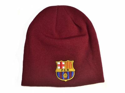 FC BARCELONA KNITTED Hat Beanie Burgundy Official Licensed Product ... c168e1d1a3a