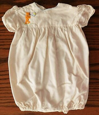Vintage 1950s infant romper hand sewn embroidered teddy bear Baby boy girl