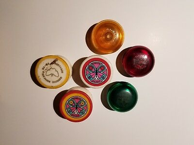 Lot of 6 Vintage Duncan Butterfly Monroe YoYo,70's,vg!