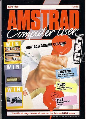 Amstrad Computer User / ACU Magazine - April 1989 - Excellent Condition - Bagged