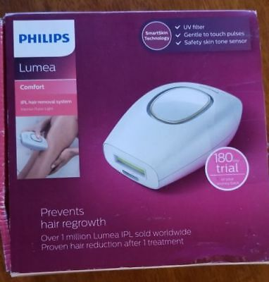 Philips - Lumea Comfort IPL Hair Removal System - White- Pre Owned-with box