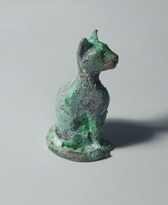 Egyptian Bronze Bastet Cat Amulet