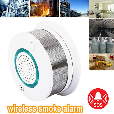 22BA Fire Alarm Without WiFi ABS Warning Fire Detector Fire Sensor Convenient