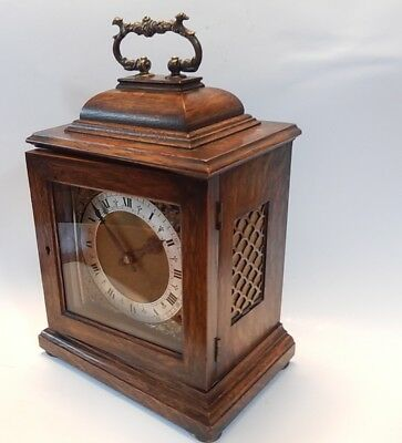 Fine  Elliott Oak Case Bracket Clock Fully working   2897