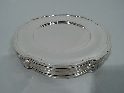 Wallace Plates - 1850 - Antique Art Deco Appetizer - American Sterling Silver