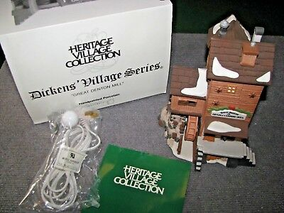 "Vintage Dept 56 Dickens Village ""Great Denton Mill"" #5812-2 Christmas Heritage"