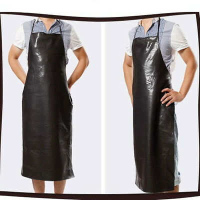 Waterproof Leather Welding Long Coat Apron Protective Clothing Suit Welder Bib