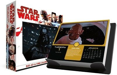 2019 Star Wars Desk Calendar Day to Day Daily Box Darth Vader Leia Luke Han Solo
