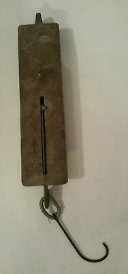 Antique Detecto Large Brass 100 LB Hanging Spring Fish Scale