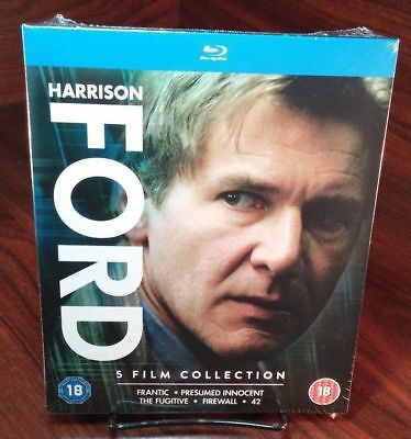 Harrison Ford Collection (Blu-ray Boxset,5 Movies)-NEW-Free Shipping w/Tracking