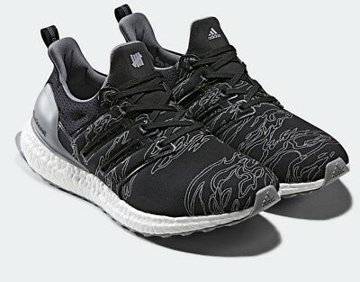 30801e0d1ba20 Adidas x Undefeated Ultra Boost Shift Grey Cinder Utility Black BC0472 Size  9.5