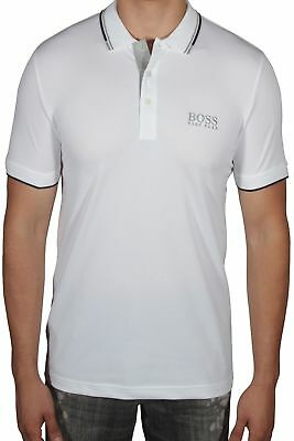 38d971b6d Hugo BOSS Paddy Pro Men's Polo Shirt Short Sleeve Regular Fit 50326299 100  White