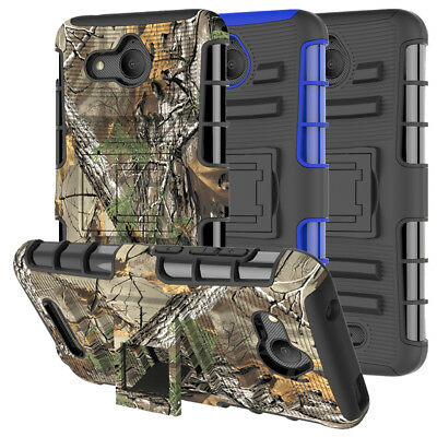 For Alcatel Tetra Case Rugged Armor Hybrid Shockproof Kickstand Phone Cover