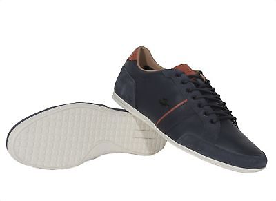 e60d2b2e3d1655 Lacoste Sneakers Alisos 117 1 CAM Casual Fashion Shoes Leather Lace Up Navy
