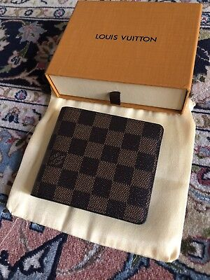 Designer Brown Checkered Wallet
