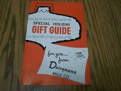 MILK BOTTLE COLLECTORS DAIRYMENS MILK CO. 1964 HOLIDAY GIFT GUIDE RARE catalog