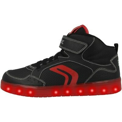 Kommodor Cut Gs Geox Rojo Zapatillas J B Negro Mid Zapatos Led qtt05P