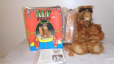 The Alf Phone with Original Box and Manual, Vintage Telephone 1980's TV Show