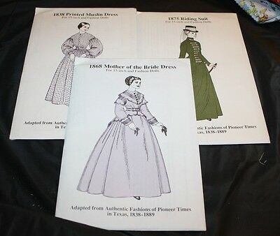 """NEW   3    15"""" Doll Patterns (RC)"""