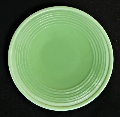 Akro Agate Small Concentric Ring/Stacked Disc Glass Lime Green Plate(s)