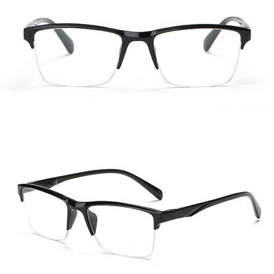 Old Man Half Frame Reading Glasses Eyeglass Spectacles Presbyopic Eyeglass Black