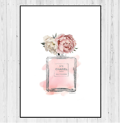 Coco Chanel Perfume Bottle Print For Home Decor Or Christmas Gift