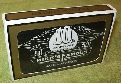 Mikes Famous Harley Davidson 10th Ann playing cards MIB orig NewCastle Delaware