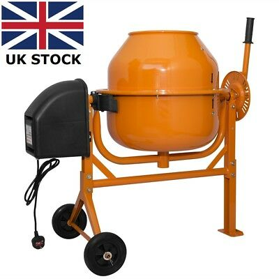 70 Litre Electric Cement Mixer 250W Portable Concrete Mortar Mixing Machine New