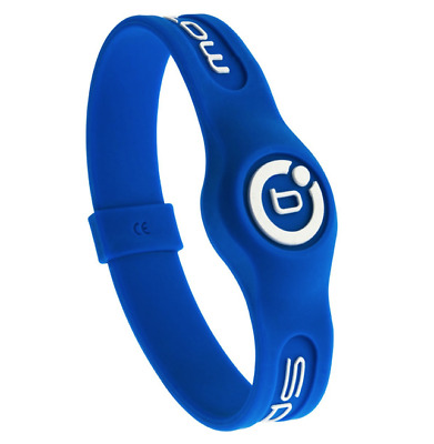 New Bioflow Sport Silicone Magnetic Therapy Wristband Blue Size Large RRP £29.99