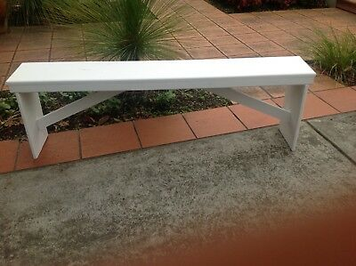 Indoor/outdoor wooden benches - white (sold) only 5 x black available!