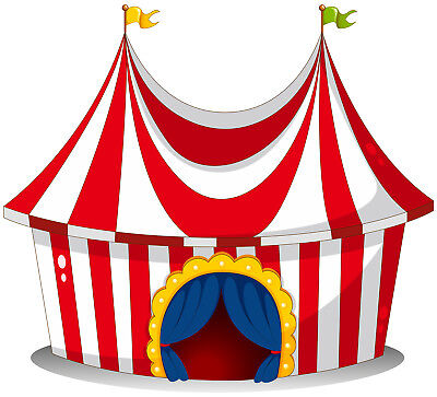 White Background Circus Tent 7X5FT Vinyl Photography Photo Props Studio Backdrop