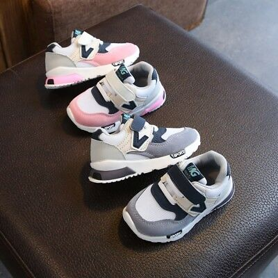 Baby Kids Boys Girls Patch Hook-Loop Shoes Toddler Anti slip Soft Shoes Sneakers