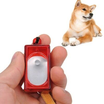 Pet Dog Click Training Obedience Agility Trainer Aid Wrist Strap Clicker Trainer