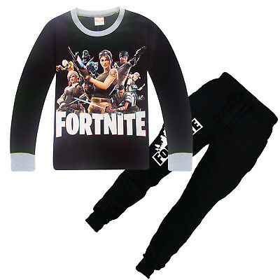 AU Fortnite Printed Clothing Casual Tops T shirt + Pants Outsets Outfits Pyjamas