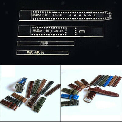 4pcs Clear Acrylic Template Set Leather Craft Pattern DIY Watch Strap Band