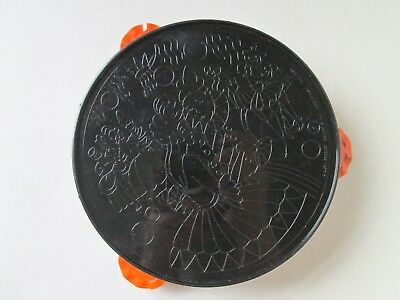 Vintage Halloween Plastic Tambourine Noisemaker A Lapin Product U.s.a.