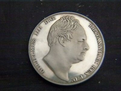 Solid Silver Proof Crown William IV Dated 1837
