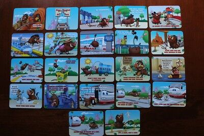 Disney's Pumbaa and Timon WILD ABOUT SAFETY cards COMPLETE 21 Card Set WILD CARD