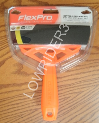 """2 FlexPro 6"""" Ultimate Hand Sander Tool with 3 Sheets of Sandpaper. Free Shipping"""