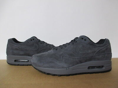 NIKE AIR MAX 1 Premium Anthracite Dark Grey Suede 8 13