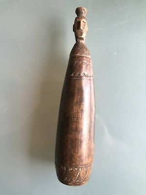 Antique Early 20th Century Used Lime Contanier From South Sea Island 18.5cm