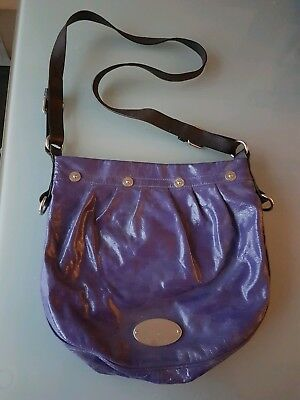 Mulberry Hobo Mitzy Across Body Handbag In Blueberry Patent Leather 580154ae68791