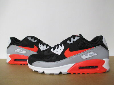 4cdda508ba Aj1285 012 Nike Air Max 90 Wolf Grey Bright Crimson Black White Essential  8-13