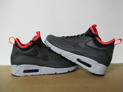 42da9a818f5 NIKE AIR MAX 90 Ultra Mid Winter. Anthracite Black-Solar Red. 924458 ...
