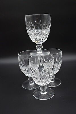 "(4) Waterford Irish Cut Crystal Colleen Short Stem 5 1/4"" Large Claret Wines"