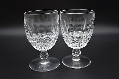 "(2) Waterford Irish Cut Crystal Colleen Short Stem 5 1/4"" Large Claret Wines"