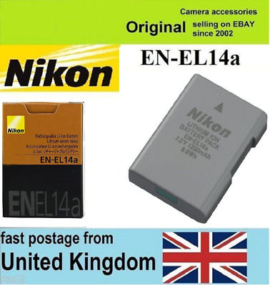 Genuine Original Nikon EN-EL14a EN-EL14aBattery for MH-24 D3300 D5200 D5100 5500