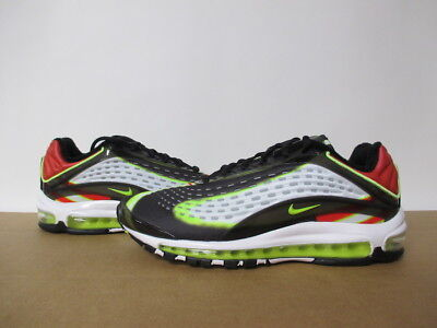 Nike Air Max Deluxe Black White Volt Habanero Red 8-13